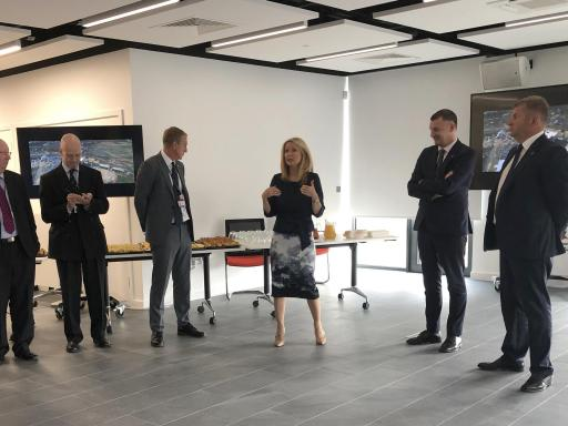 Housing Minister Esther McVey opens the new office